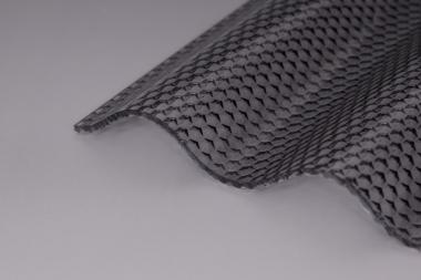 Lichtplatte Acryl 3mm Wabe-graphit