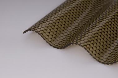 Lichtplatte Polycarbonat 2,8mm bronze wabe hagelsicher