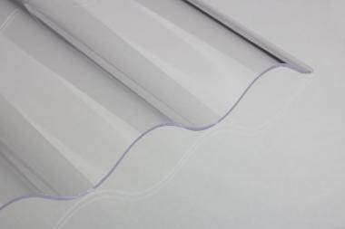 Lichtplatte Acrylglas Sinus- glatt-klar 3 mm
