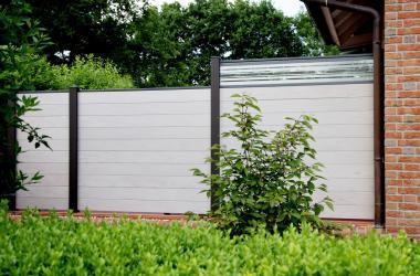 BPC Steckzaun 180 x 180 x 1,9cm bi-color-weiß