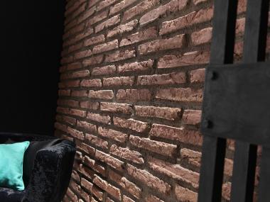 Steinwand Brick Viejo Ton