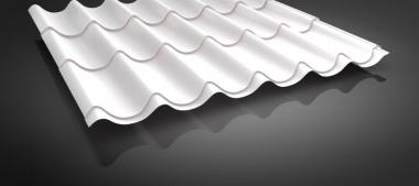 Pfannenblech VLIES i. Dachpfannenprofil 0.5mm 13 Farben+cm-genaue Längen