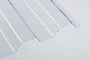 PVC-Lichtplatte 1,4 mm Trapez-/Spundwandprofil