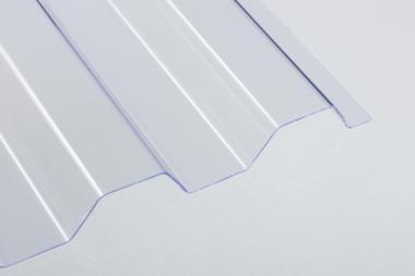 PVC-Lichtplatte 1mm Trapez- /Spundwandprofil