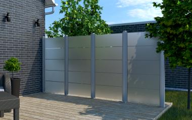 Glas Sichtschutz Blockstreifen - 90 x 180 x 0,8cm - senkrecht