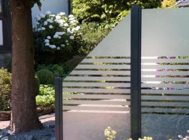 Glas Sichtschutz streifen - 90 x 180 x 0,8cm - senkrecht