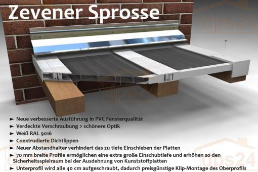 Verlegeprofil Zevener Sprosse + Zubehör Stegplatten