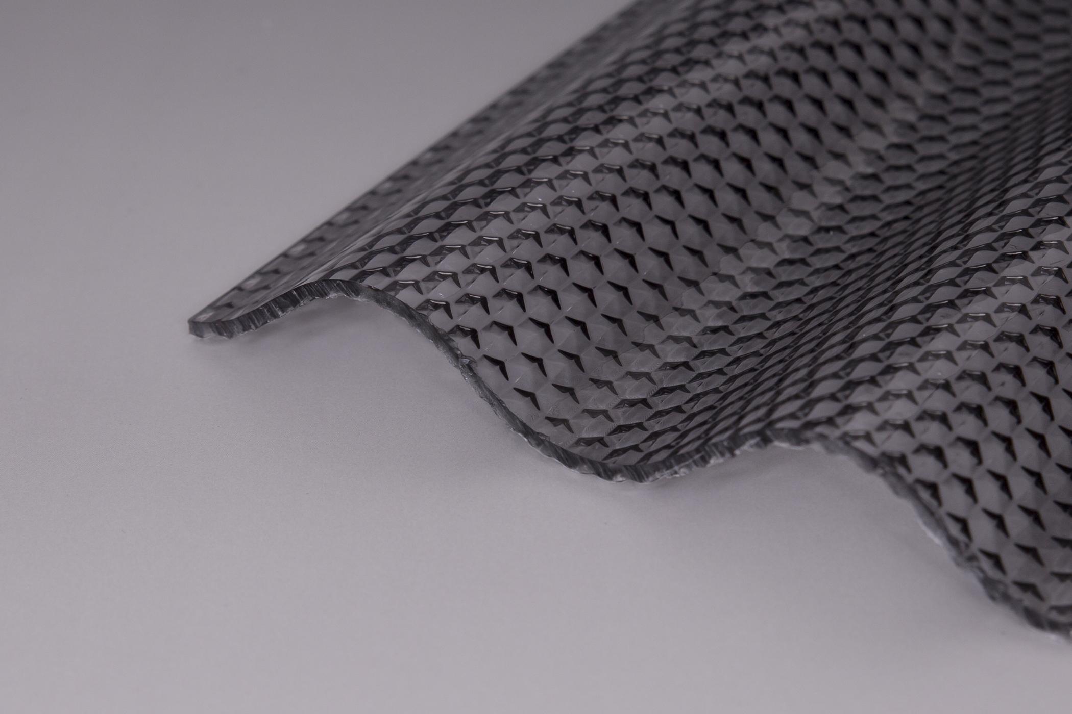 Lichtplatte Acryl 3mm Wabe Graphit