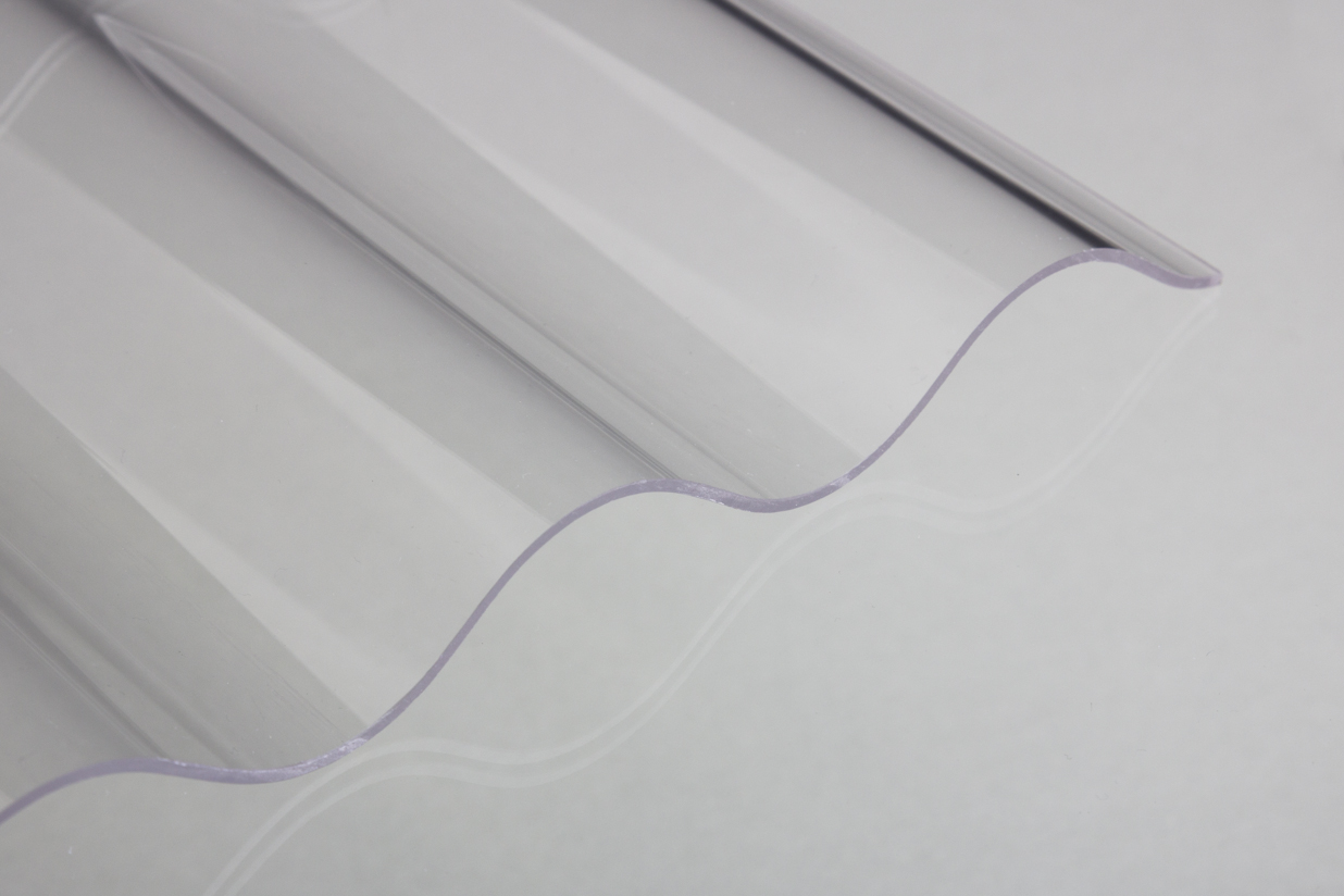 Lichtplatte Acrylglas Sinus Glatt Klar 3 Mm
