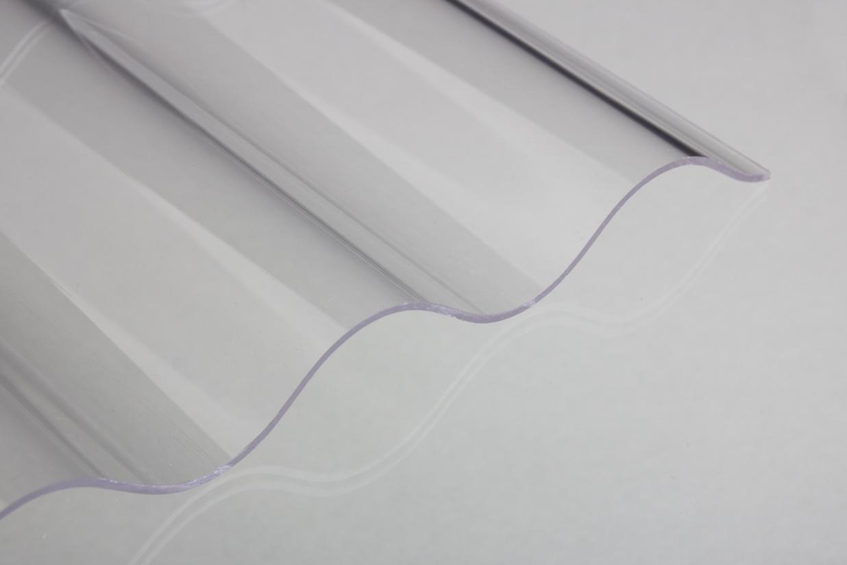 lichtplatte acrylglas sinus glatt klar 3 mm. Black Bedroom Furniture Sets. Home Design Ideas