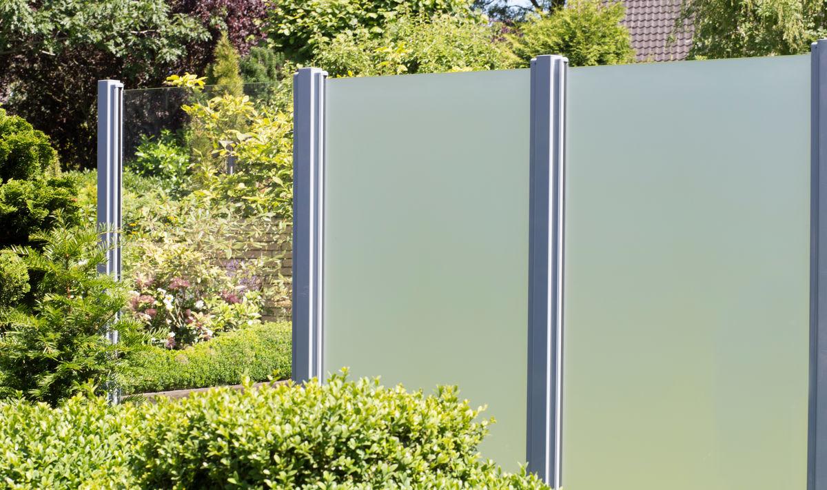 Glas Sichtschutz satiniert - 90 x 180 x 0,8cm - senkrecht