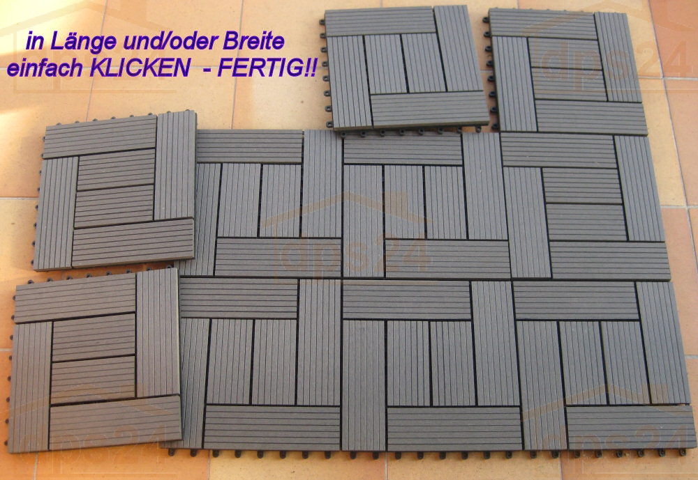 holzfliese wpc holz modulares klicksystem terrassendiele. Black Bedroom Furniture Sets. Home Design Ideas
