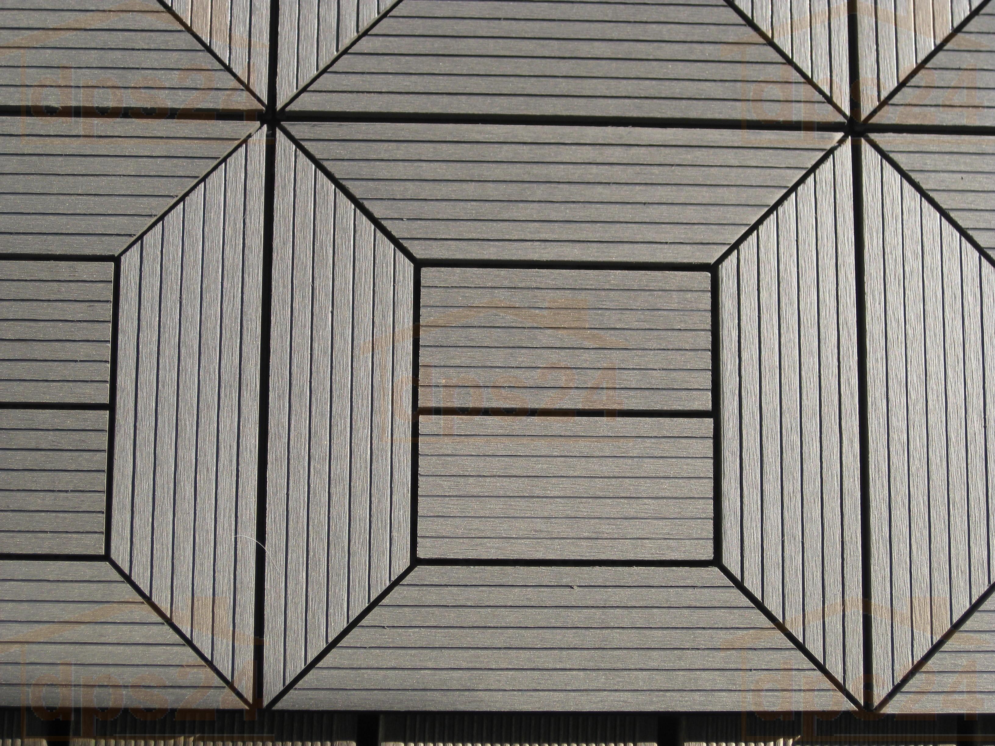 Holzfliese WPC-Holz modulares Klicksystem