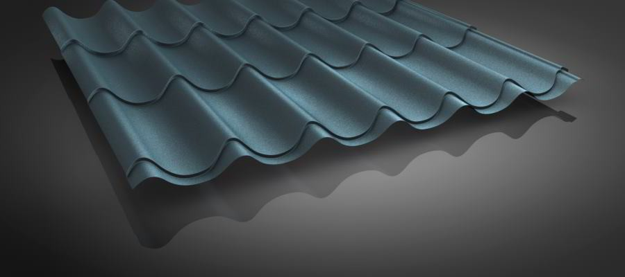pfannenblech vlies i dachpfannenprofil 13 farben cm genaue l ngen. Black Bedroom Furniture Sets. Home Design Ideas
